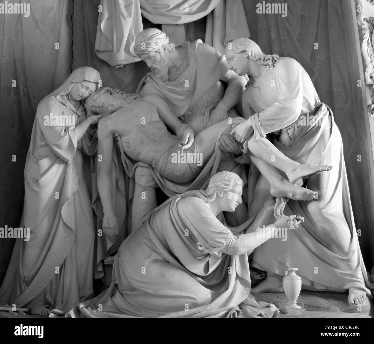 Rome - Deposition from the Cross from hl. Trinity on the Mount church - Stock Image