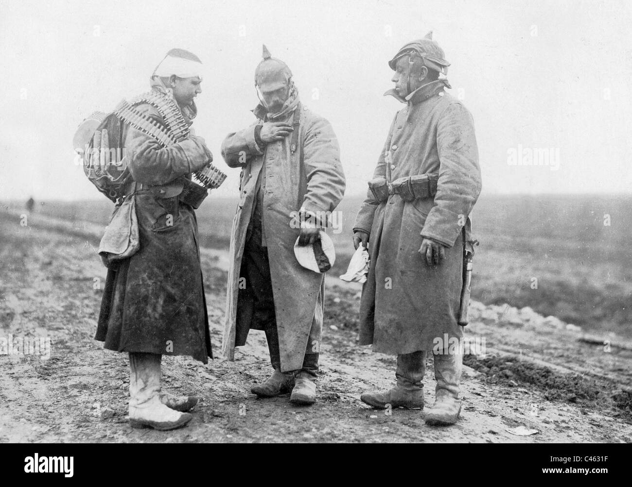 Wounded German soldiers, 1916 - Stock Image
