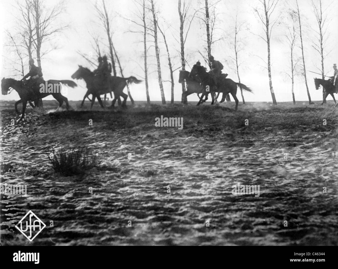 German cavalry in the battle of Tannenberg, 1914 - Stock Image