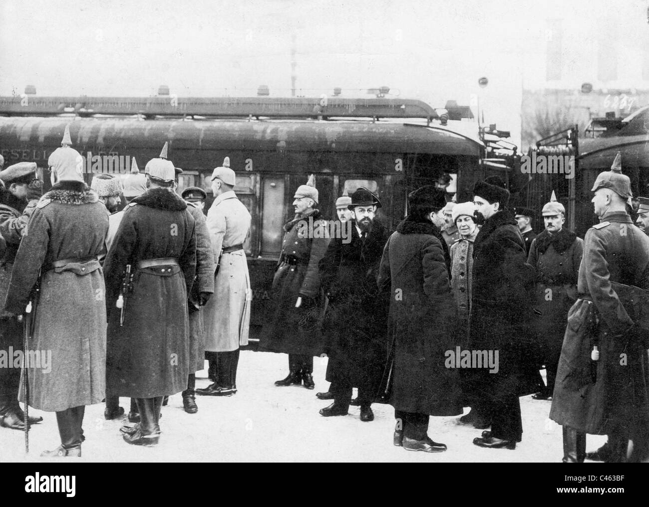 Peace talks of Brest-Litovsk, 1917/1918 - Stock Image