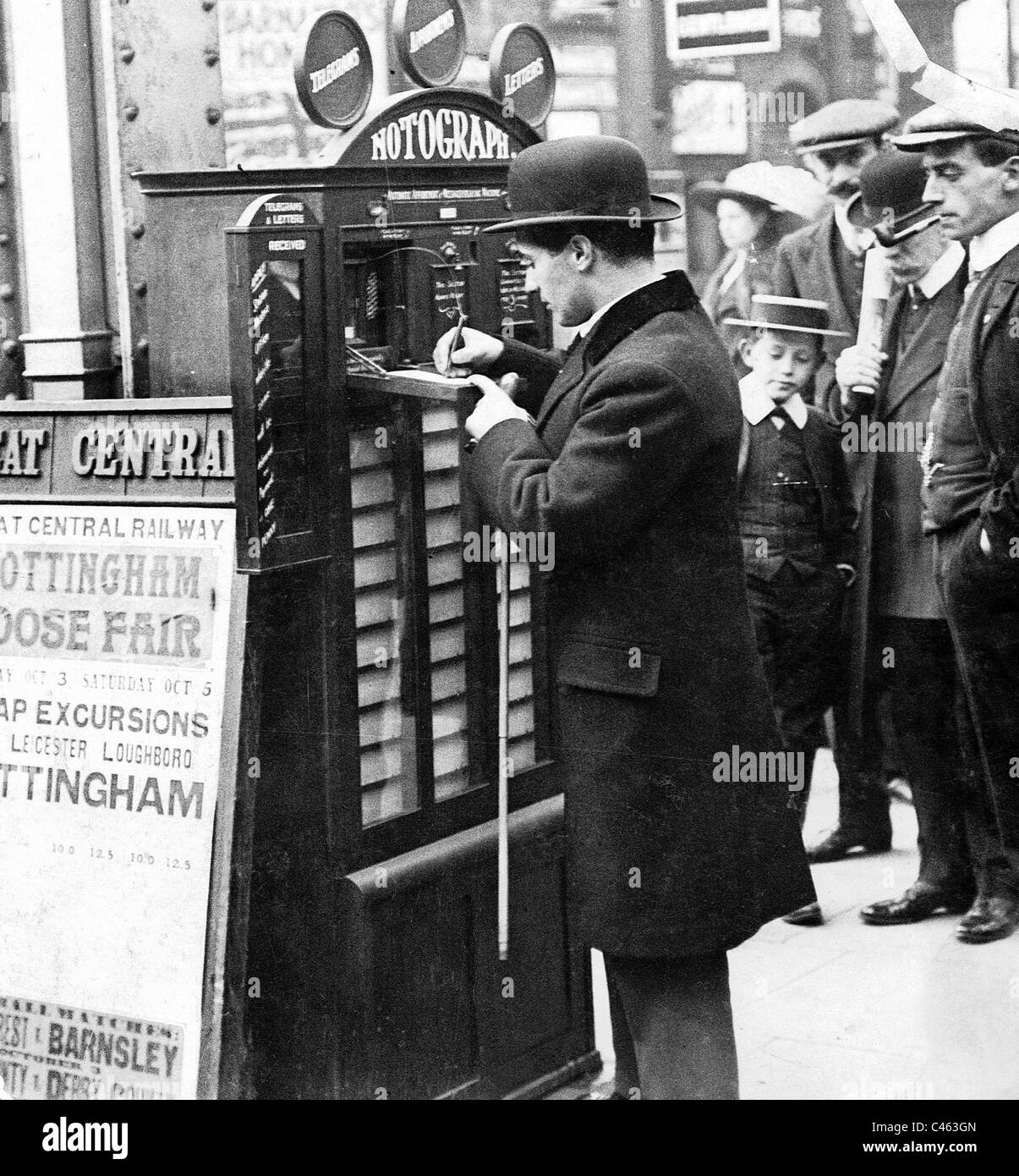 'Notograph', rendezvous machine in London, 1912 - Stock Image