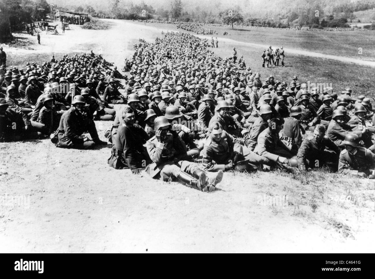 German troops on the Western front, 1917 Stock Photo