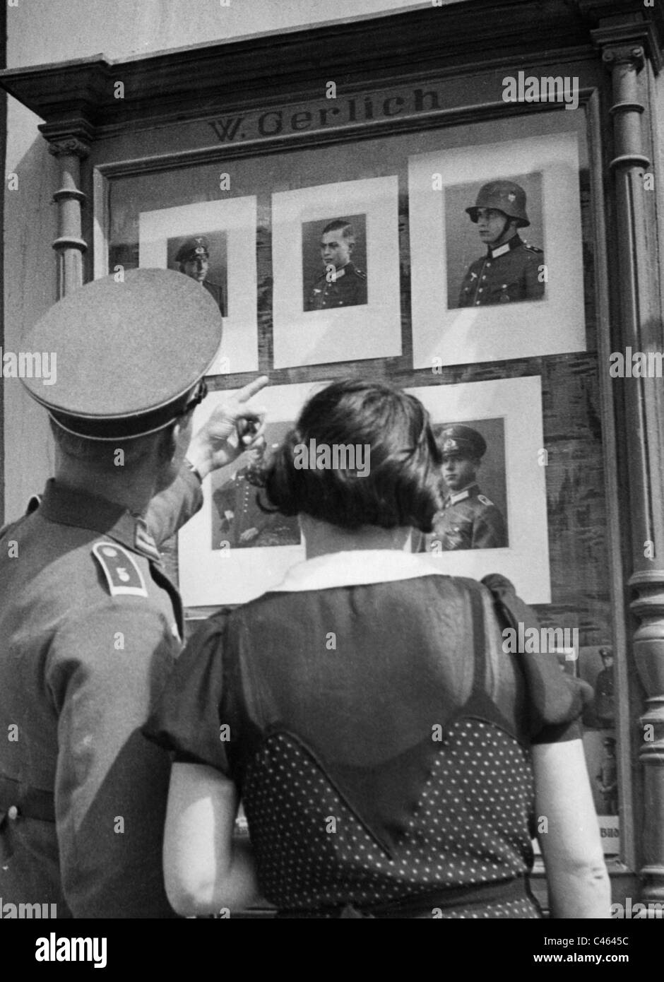 Portraits of soldiers, 1935 - Stock Image