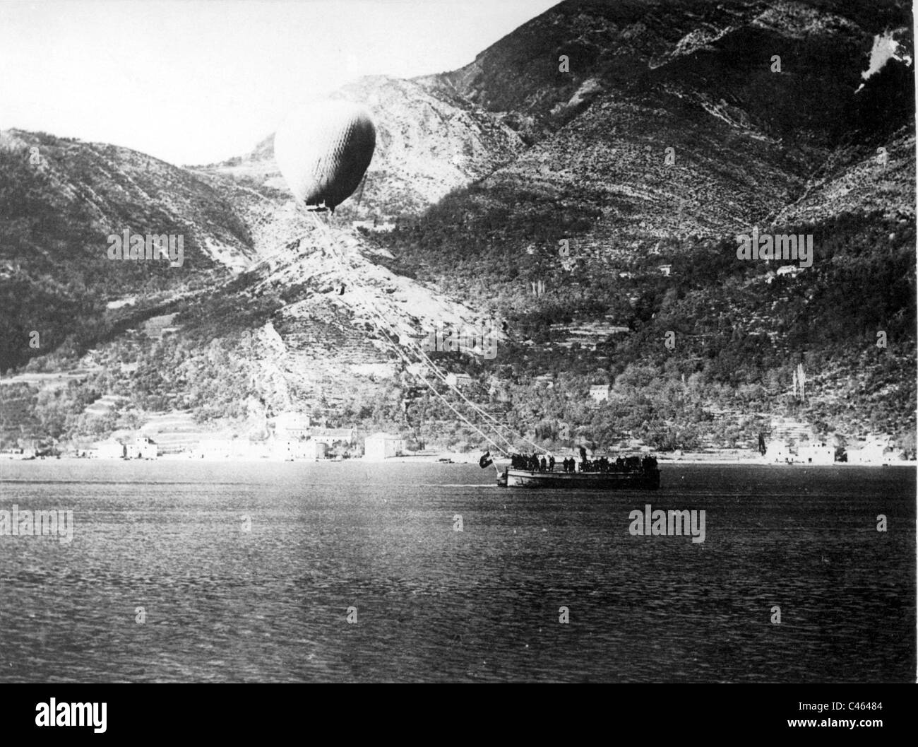 Austrian observation balloon, 1918 - Stock Image