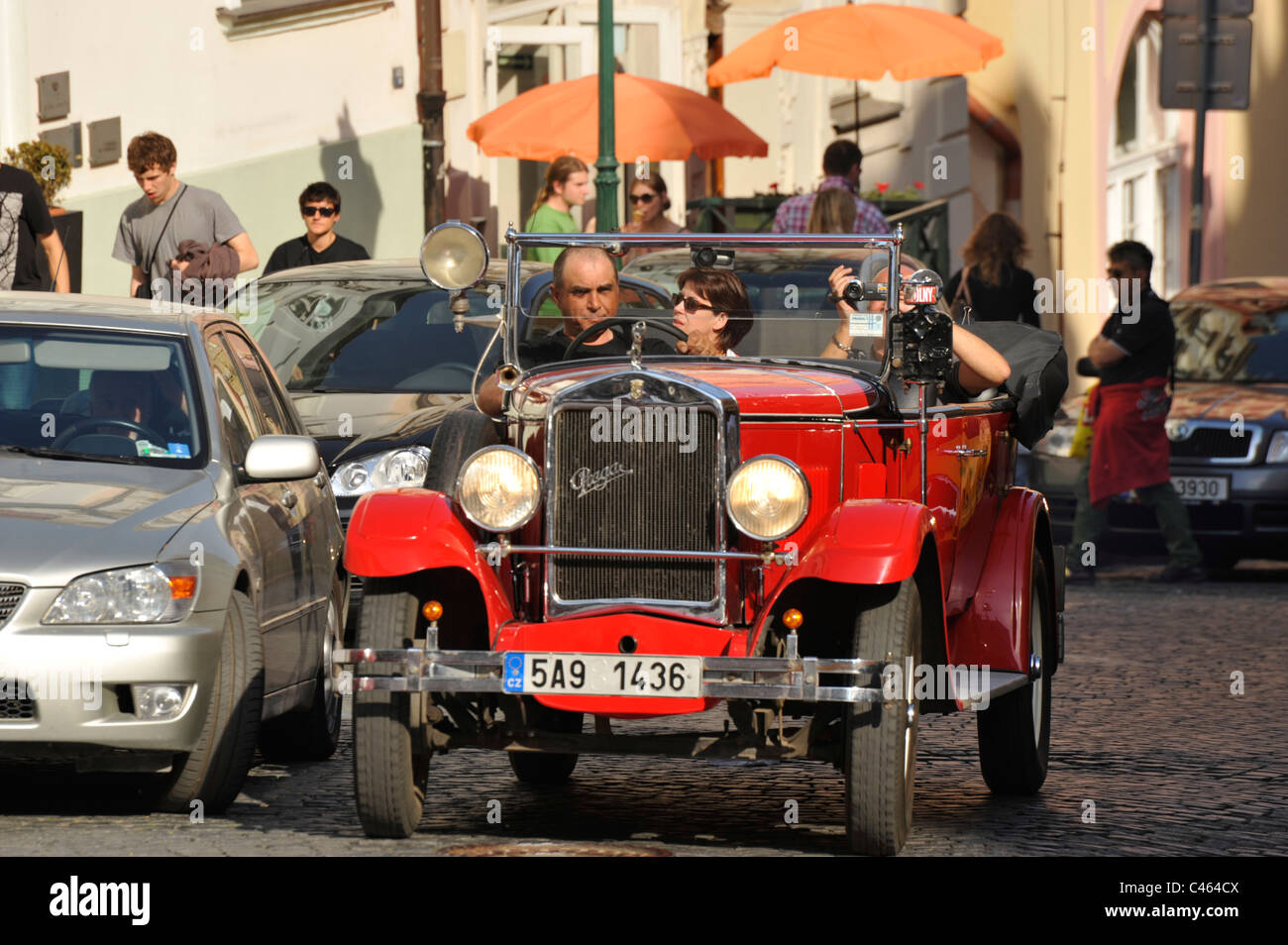 Replica and vintage cars used to take tourists around the sights of ...