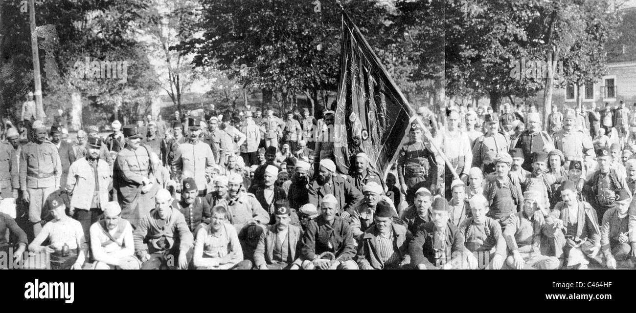 Albanian volunteers for the Austro-Hungarian Army, 1917 - Stock Image
