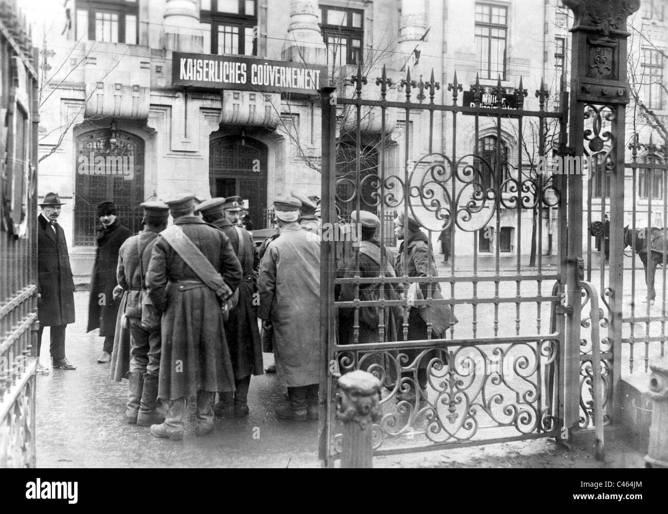 Bulgarian soldiers in Bucharest, 1917 Stock Photo