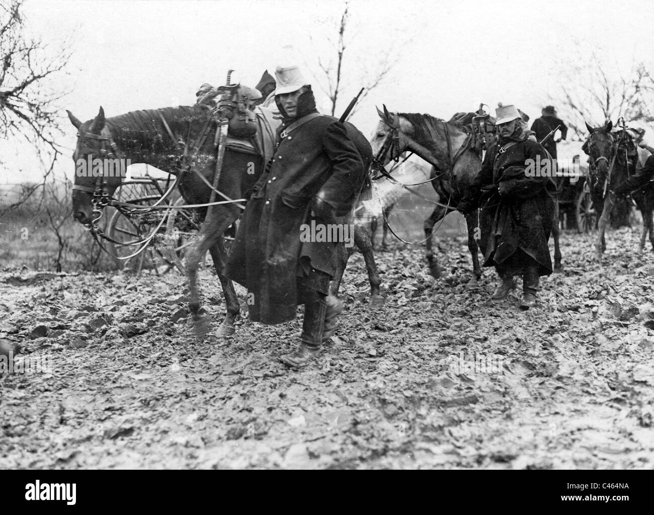 Austrian cavalry in Serbia, 1914 - Stock Image