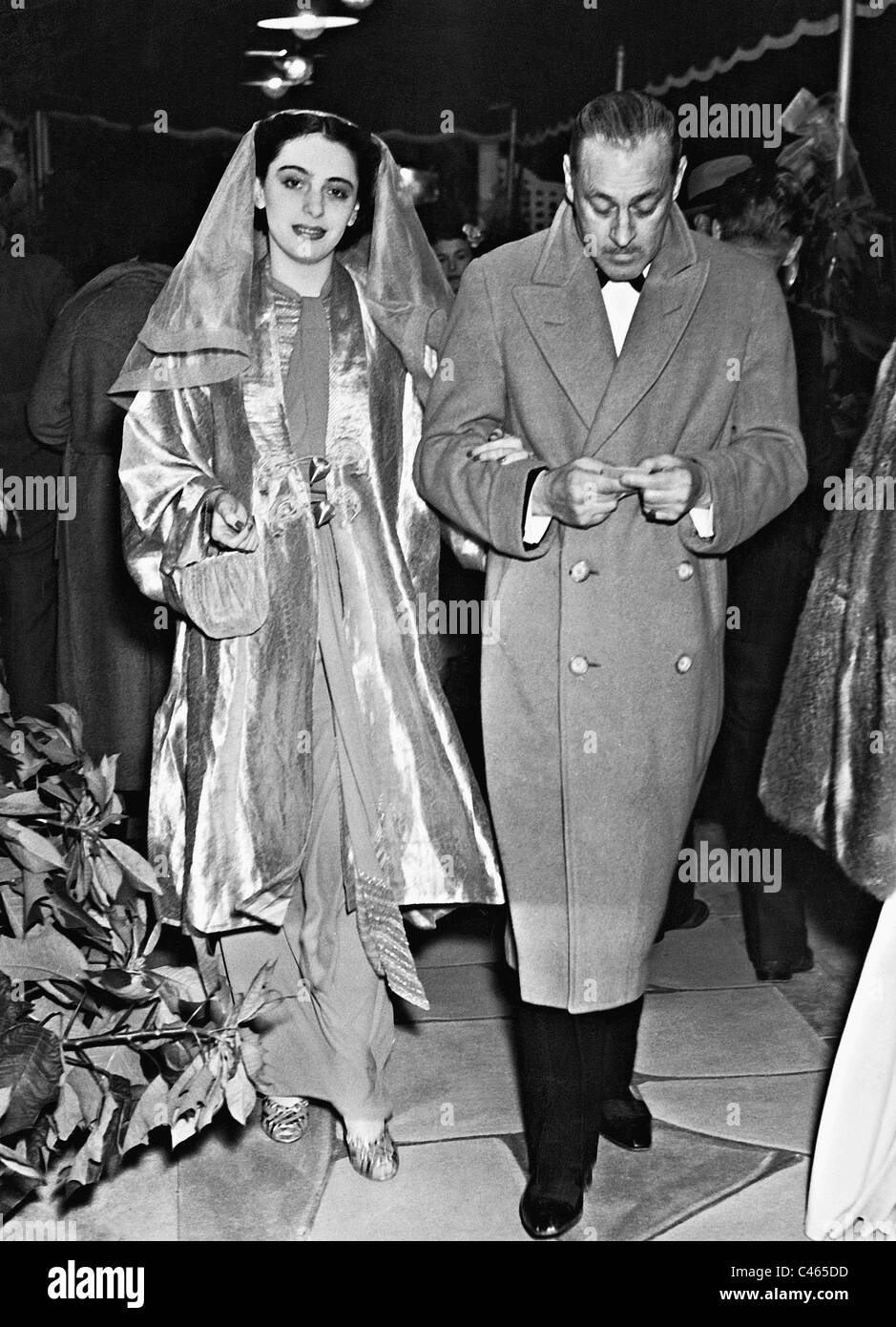 John Barrymore and Elaine Barry, 1936 - Stock Image