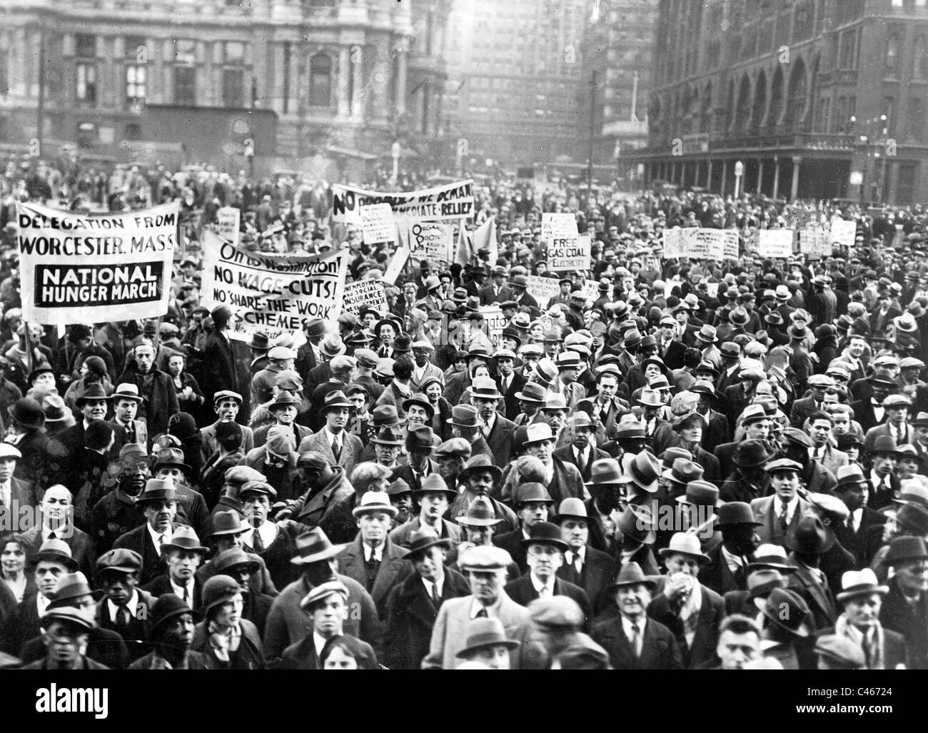Demonstration During The Great Depression In Philadelphia 1929 - The-great-depression-1929
