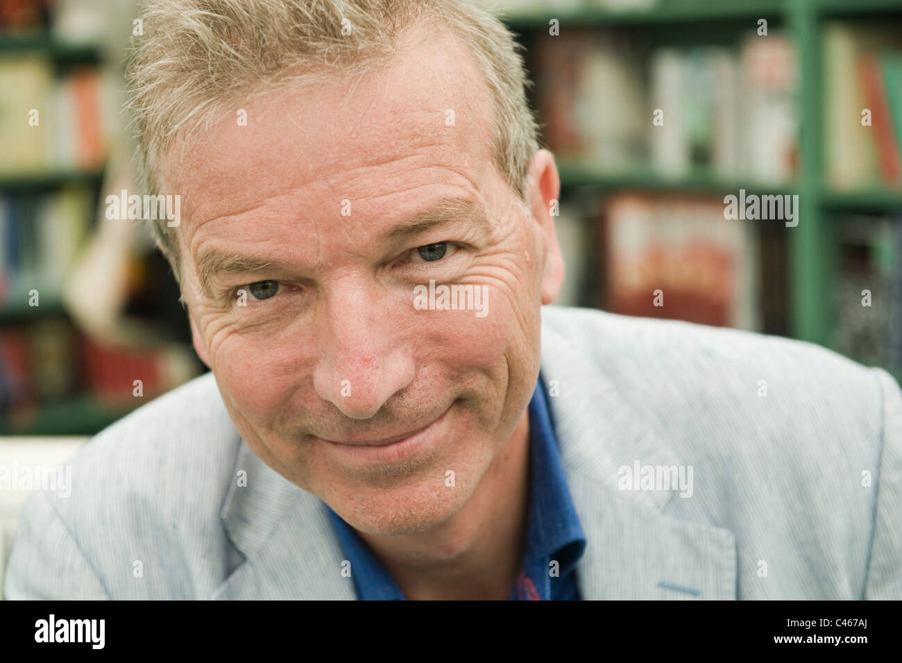 Clive Aslett journalist writer and former editor of Country Life pictured at Hay Festival 2011 - Stock Image