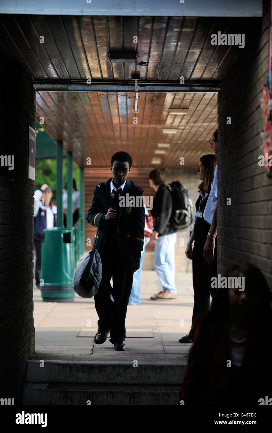 A pupil at a secondary school UK - Stock Image