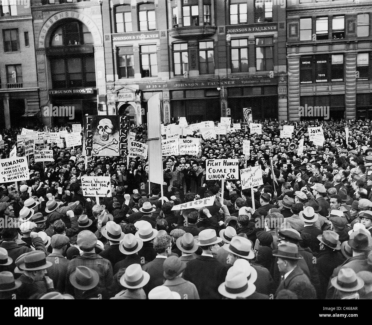 Unemployment Demonstration During The Great Depression At