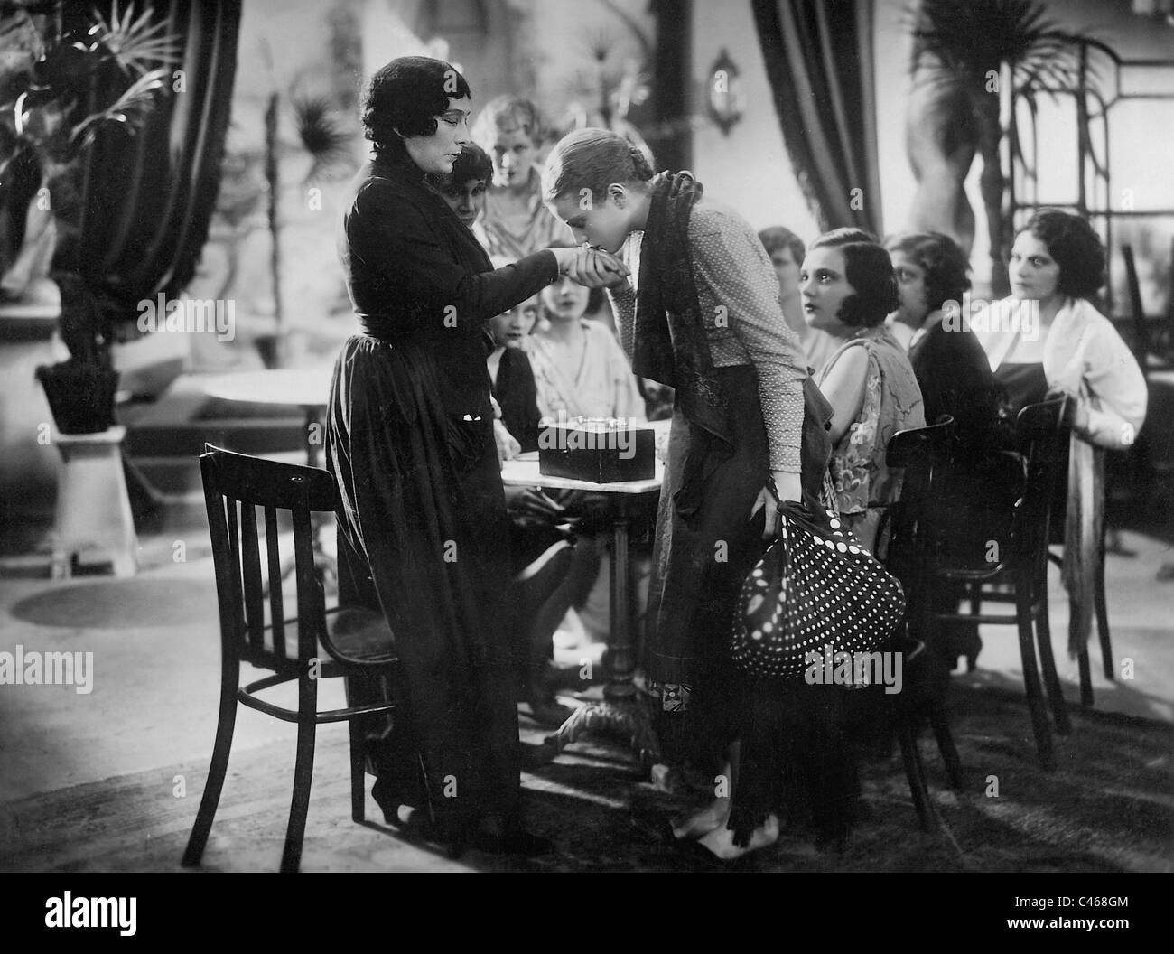 Annabella in a movie scene - Stock Image