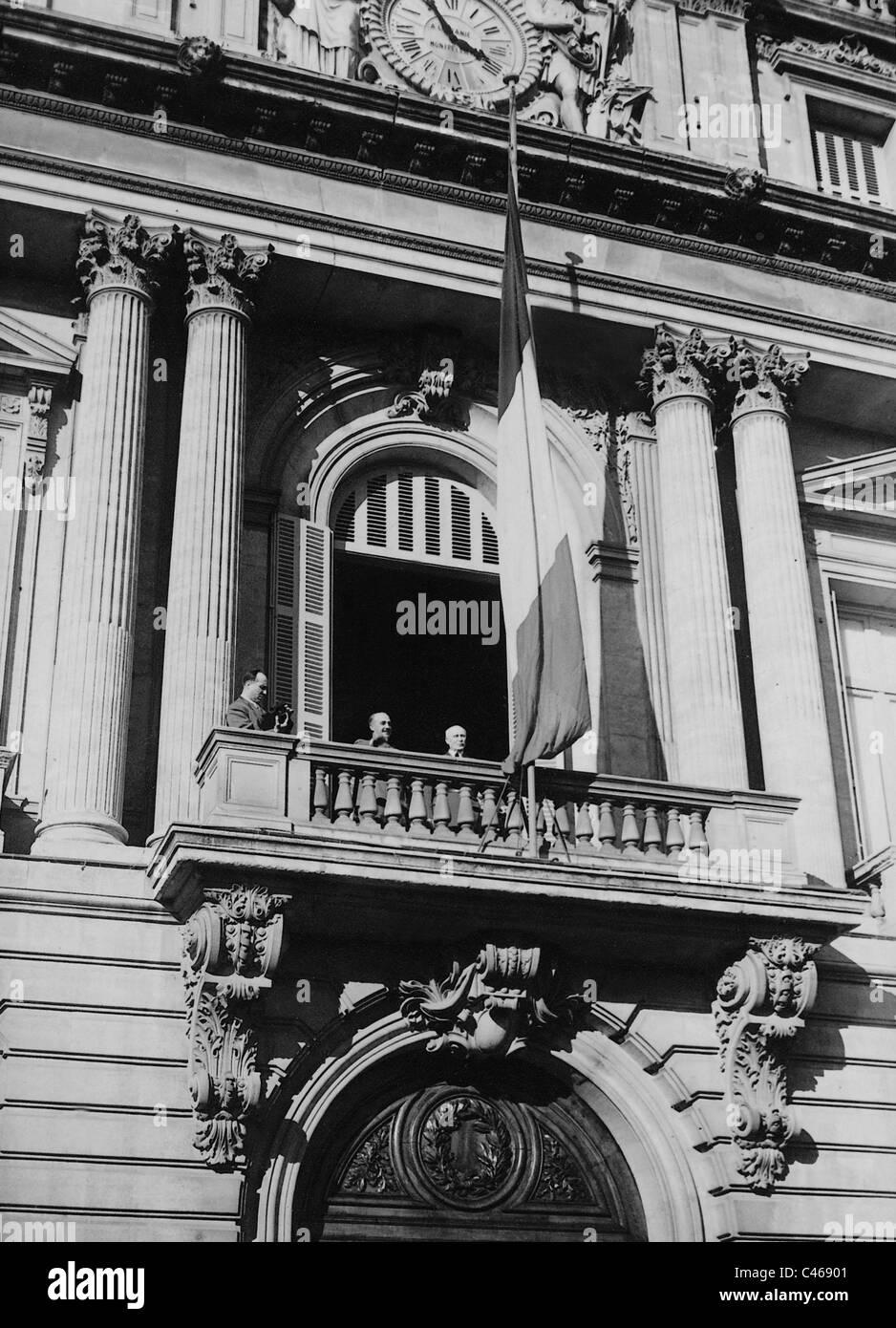 Henri Philippe Petain and Francisco Franco, 1941 - Stock Image