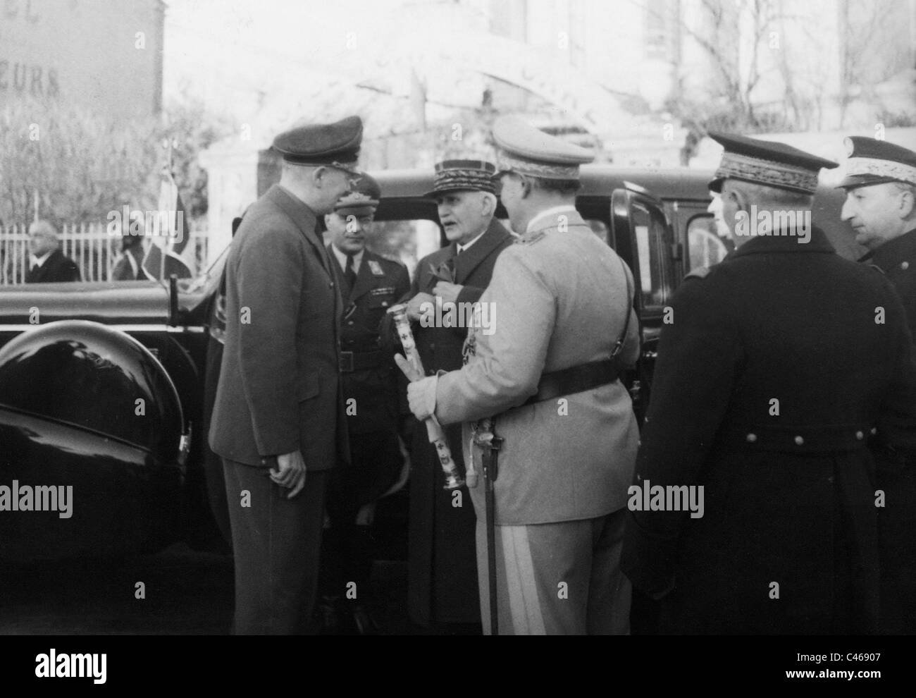 Meeting of Hermann Goering and Henri Philippe Petain, 1941 - Stock Image