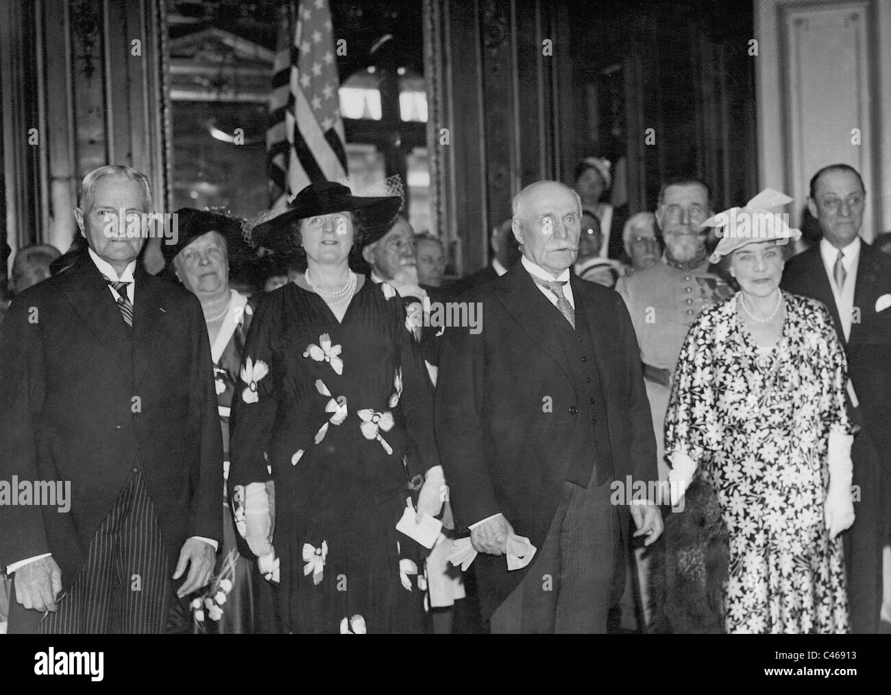 Shot of the Princess Margaret Boncompagni in the French Legion of Honor, 1935 - Stock Image