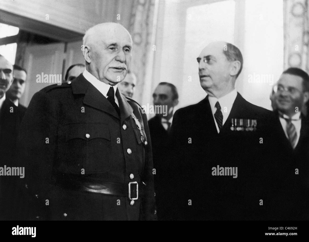 Henri Philippe Petain and William Leahy, 1941 - Stock Image