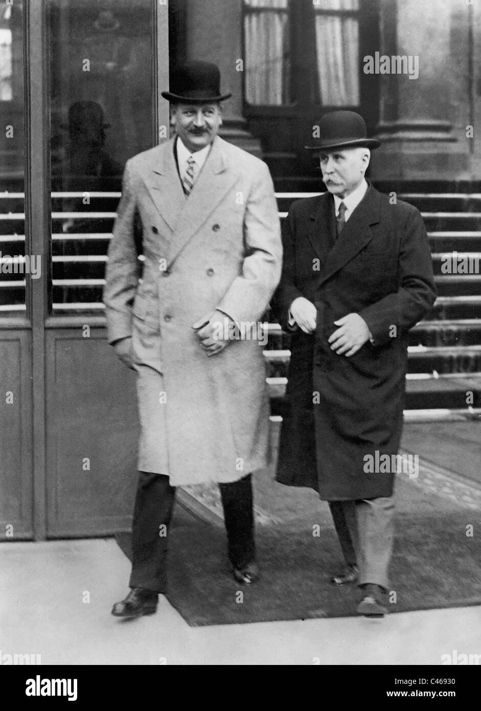 Henri Philippe Petain and Pierre Laval, 1934 - Stock Image