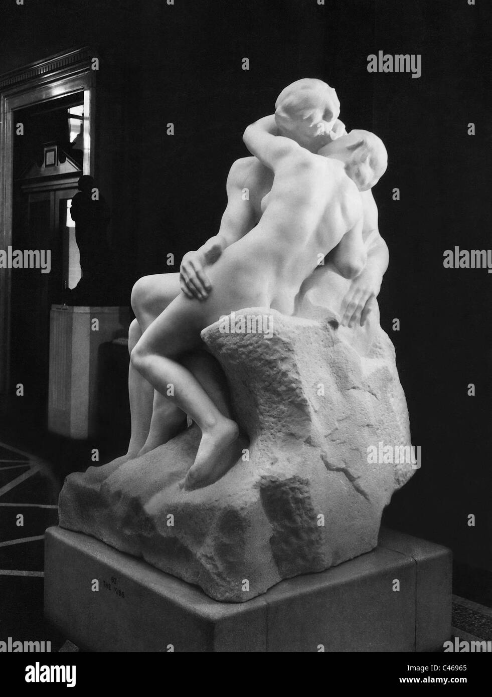 Sculpture 'The Kiss' by Auguste Rodin - Stock Image