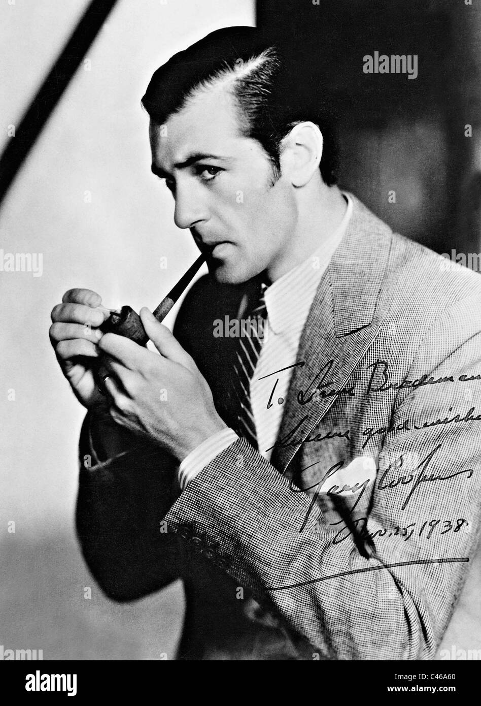 Signed photo of Gary Cooper - Stock Image