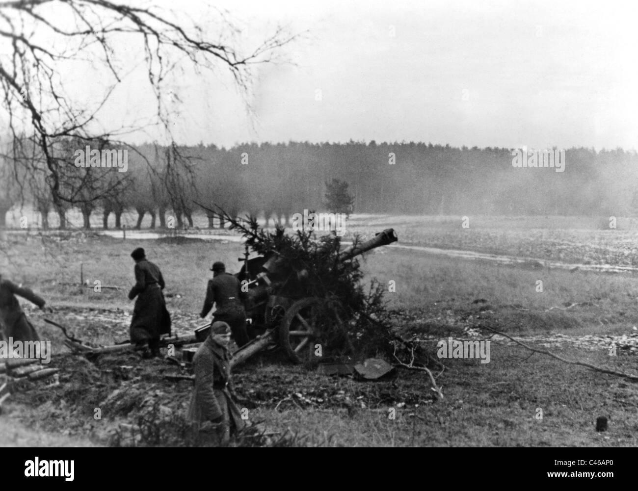 Second World War: German Artillery - Stock Image