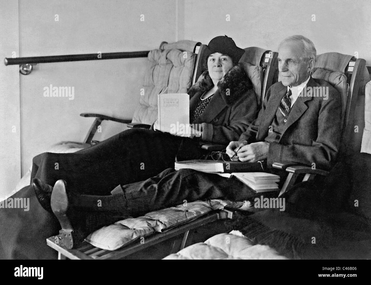 Henry Ford and his wife Clara Bryant Ford, 1930 Stock Photo - Alamy