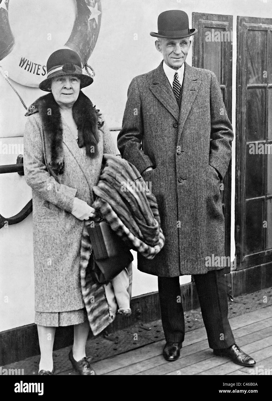 Henry Ford and his wife Clara Bryant Ford, 1928 Stock Photo - Alamy