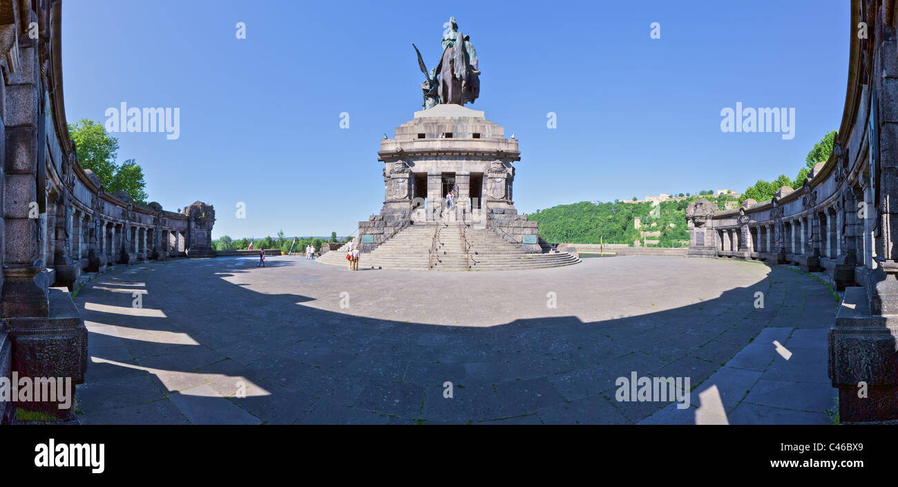 The Deutsches Eck (German Corner), a famous landmark in the German city of Koblenz. - Stock Image