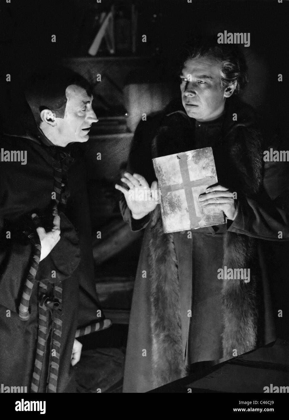 Bruno Huebner and Ewald Balser in 'Faust', 1939 - Stock Image