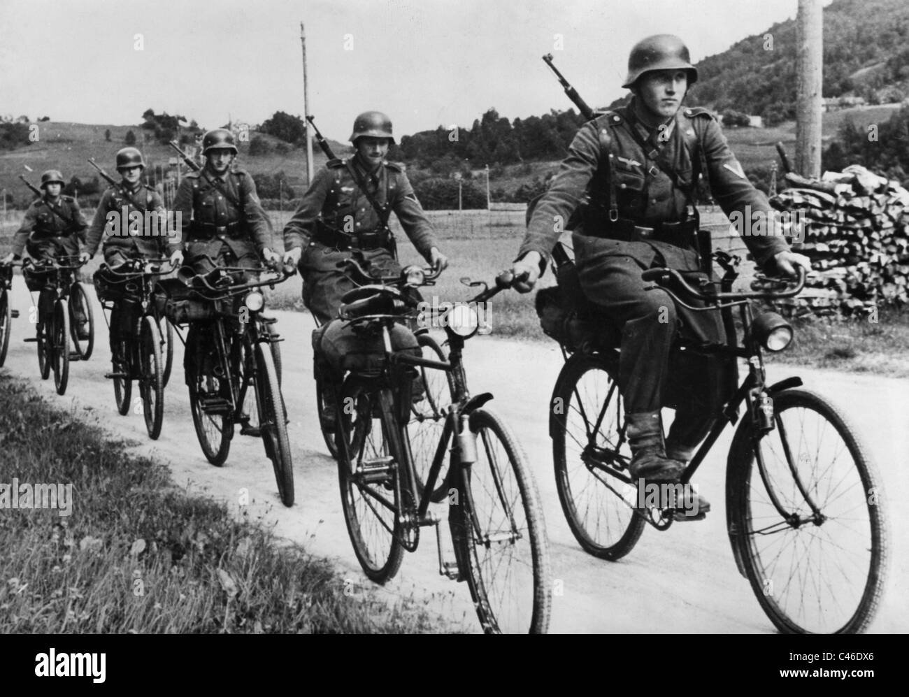 Second World War: German Bicycle InfantryStock Photo