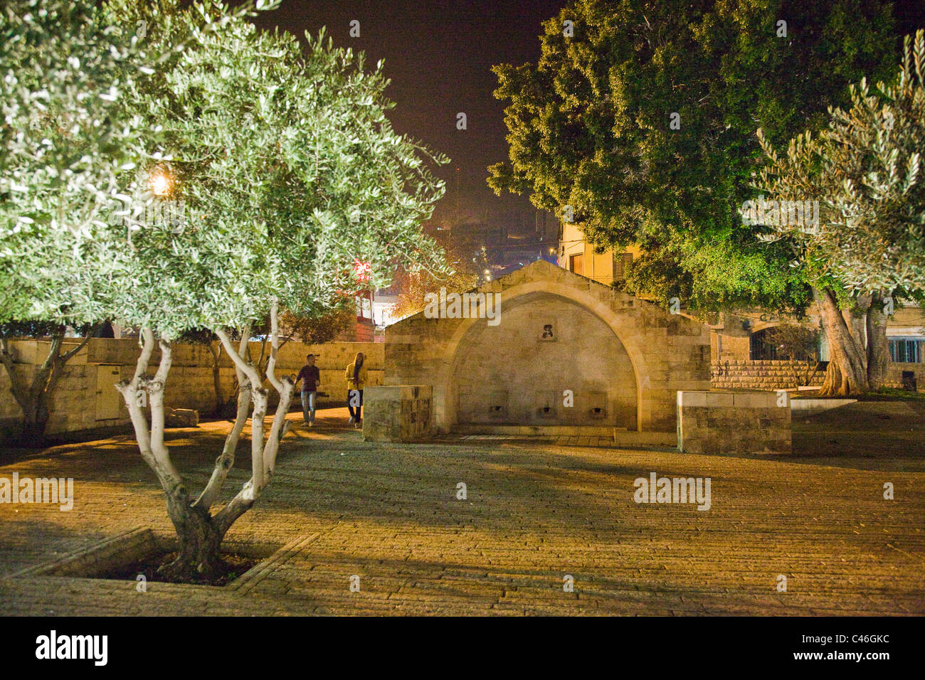 Photograph of Mary's well at Christmas eve in the city of Nazareth - Stock Image