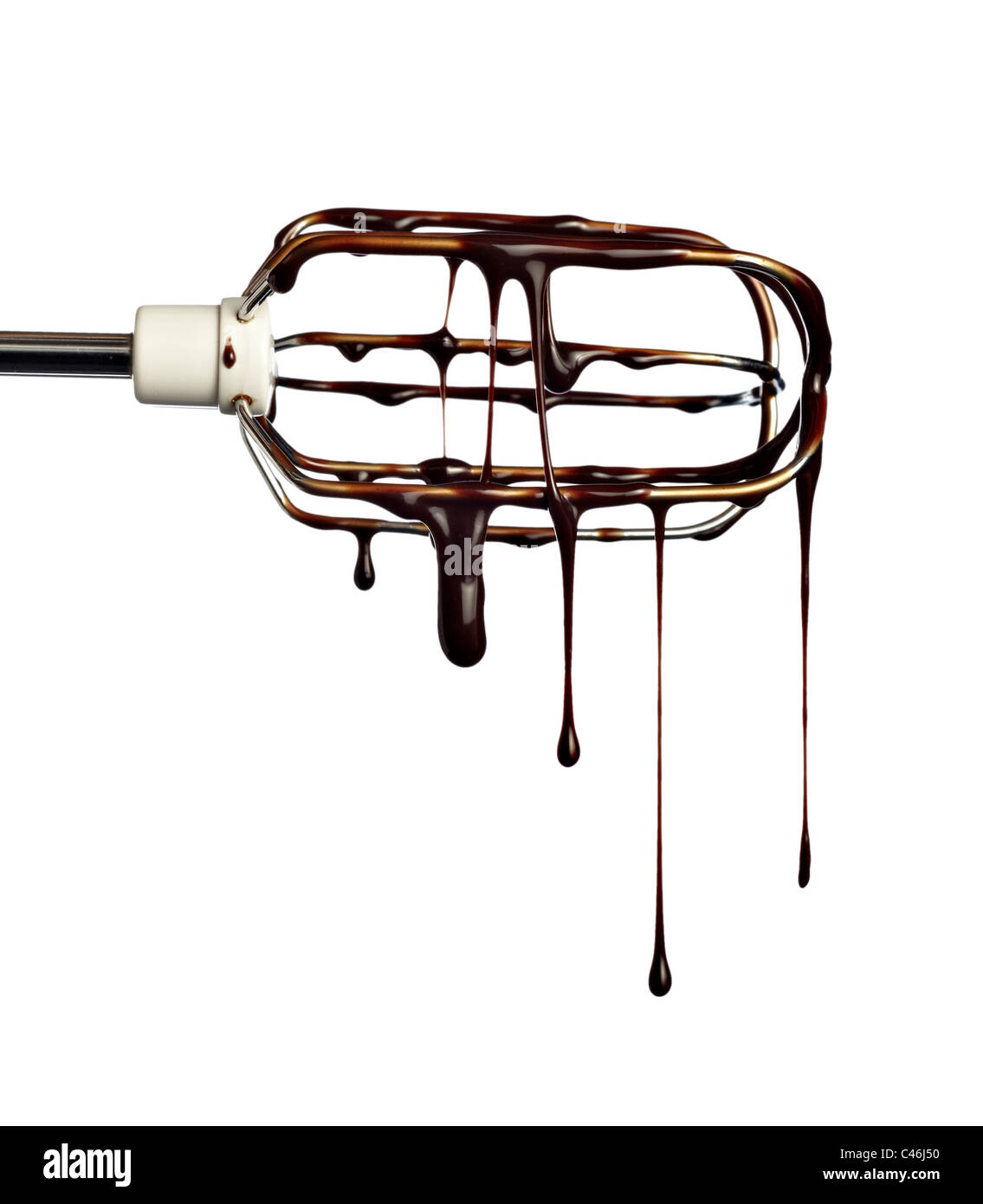 close up of chocolate syrup - Stock Image