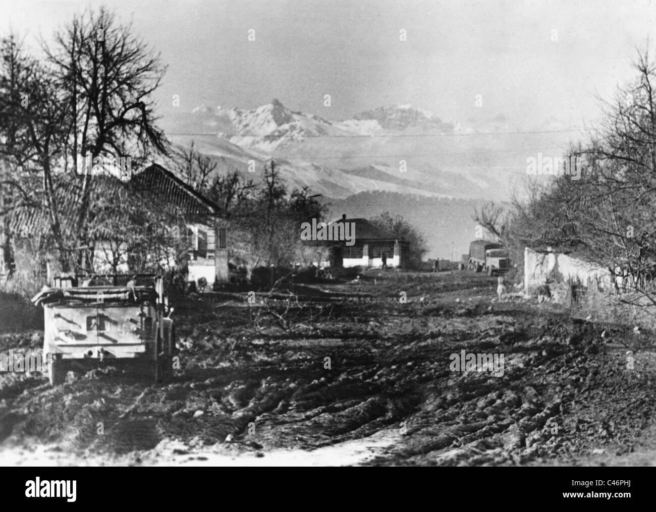 Second World War: Break down in front of Ordzhonikidze, december 1942 - Stock Image
