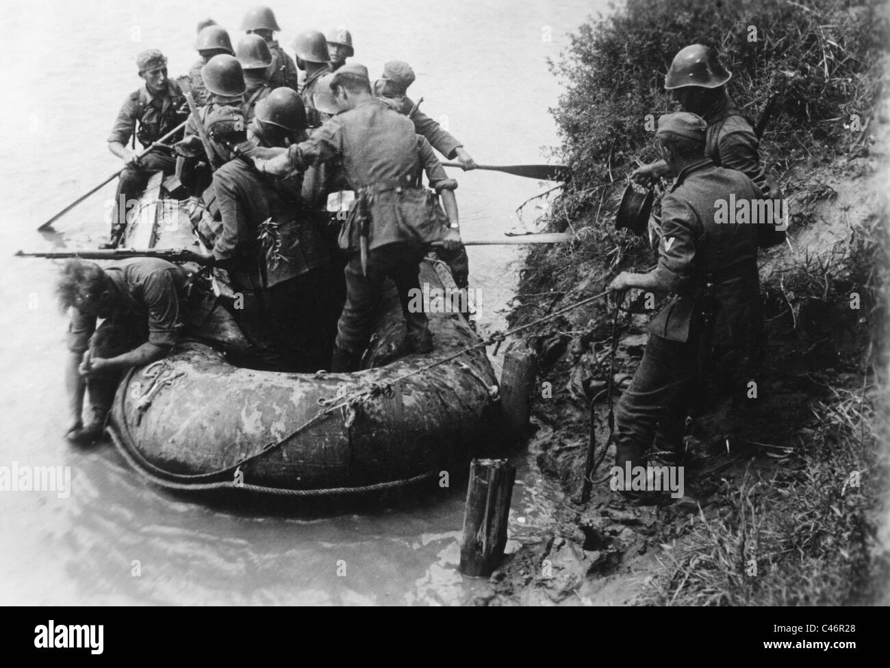 Second World War: German bridgehead at Kuban River, Taman Peninsula, 1943 Stock Photo