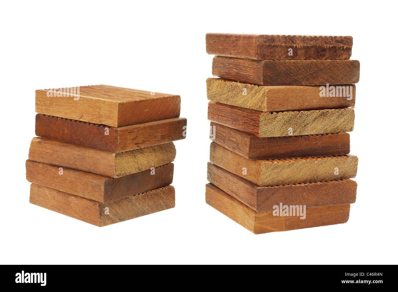 Stacks of Wood Blocks - Stock Image