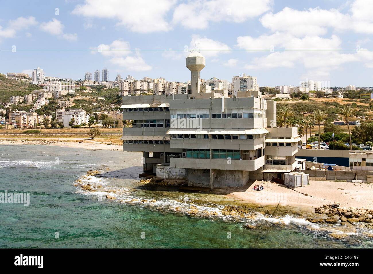 Aerial photograph of the Oceanographic Research Institution in the city of Haifa - Stock Image