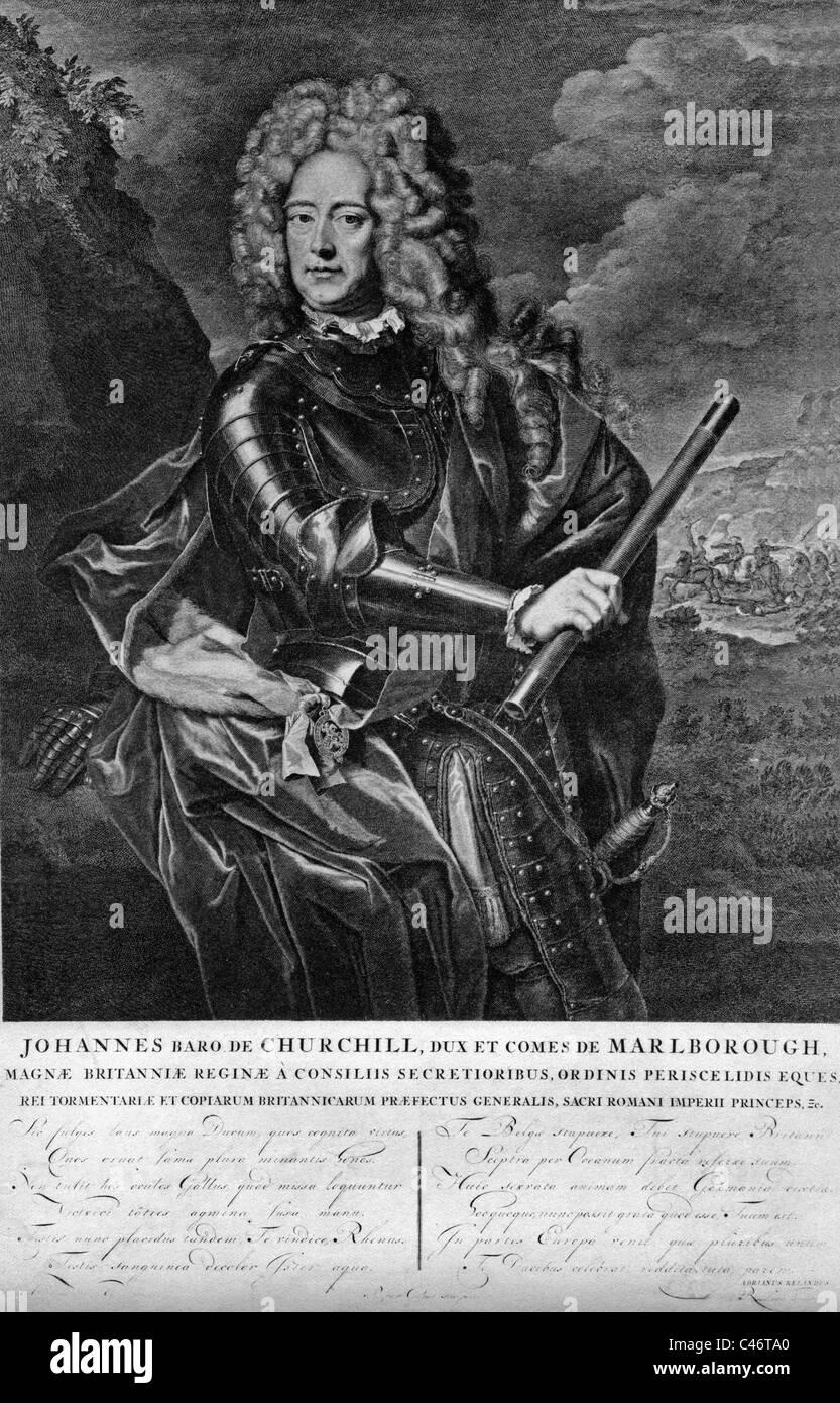 John-Churchill / Sarah Herzog(in) Marlborough, - Stock Image