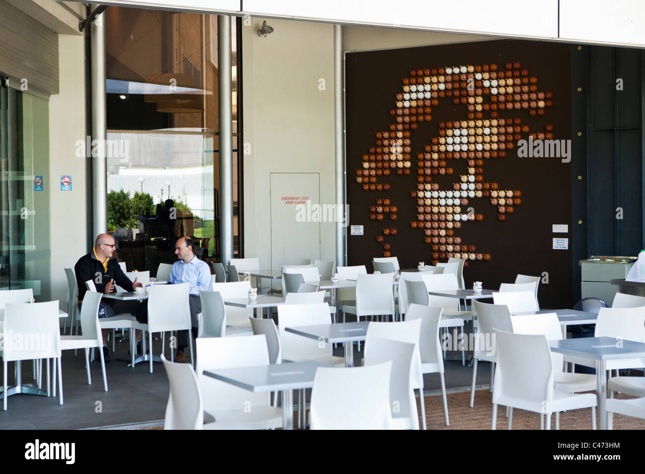 pop art at caffisimo cafe at the art gallery of western australia