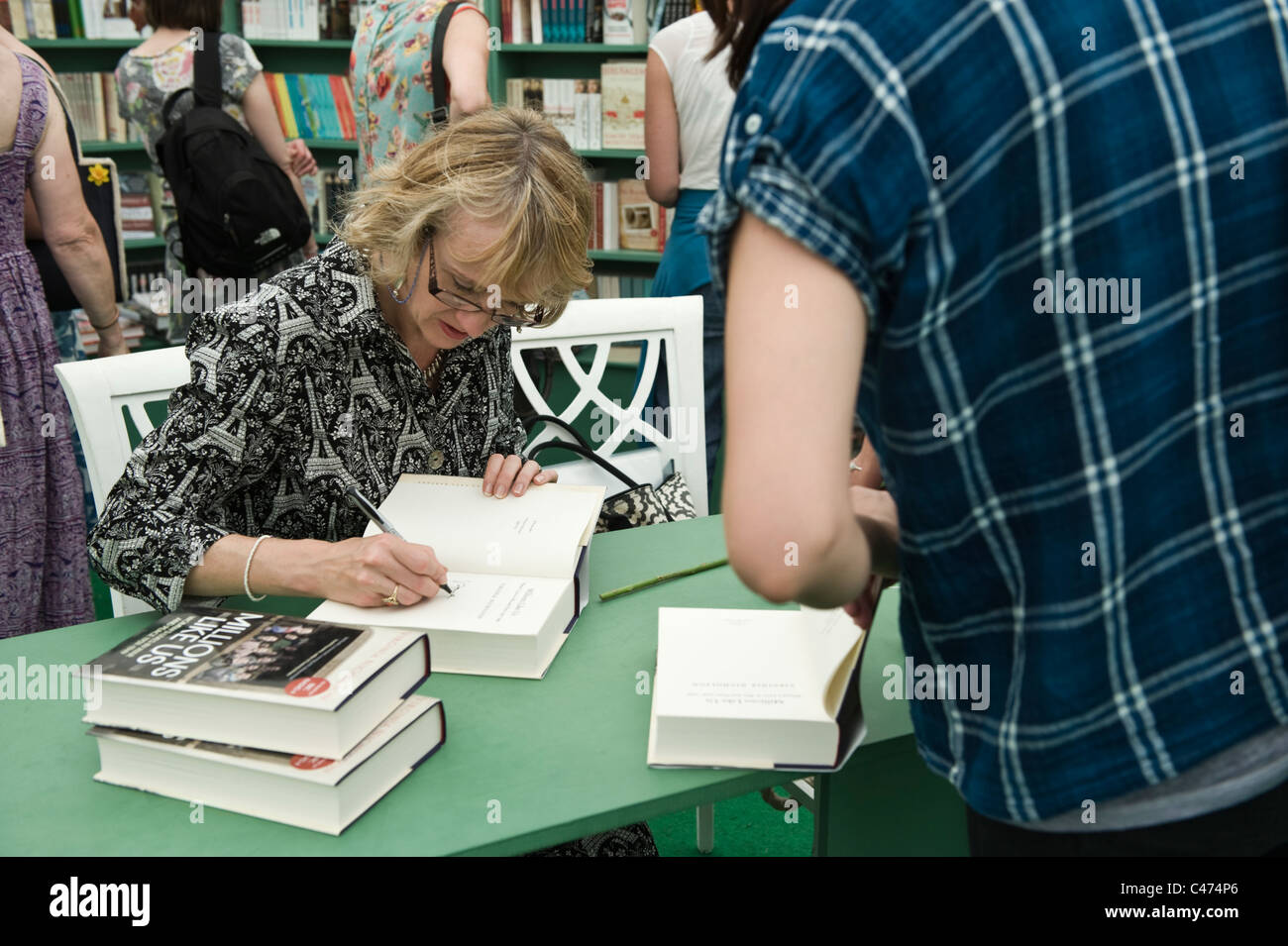 Virginia Nicholson author writer and social historian book signing at Hay Festival 2011 - Stock Image