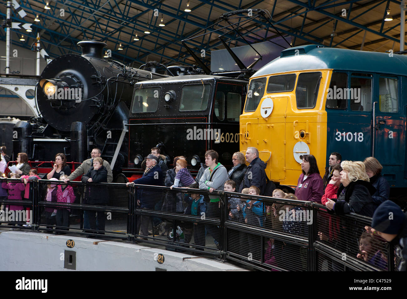 Exhibits at the National Railway Museum in York - Stock Image