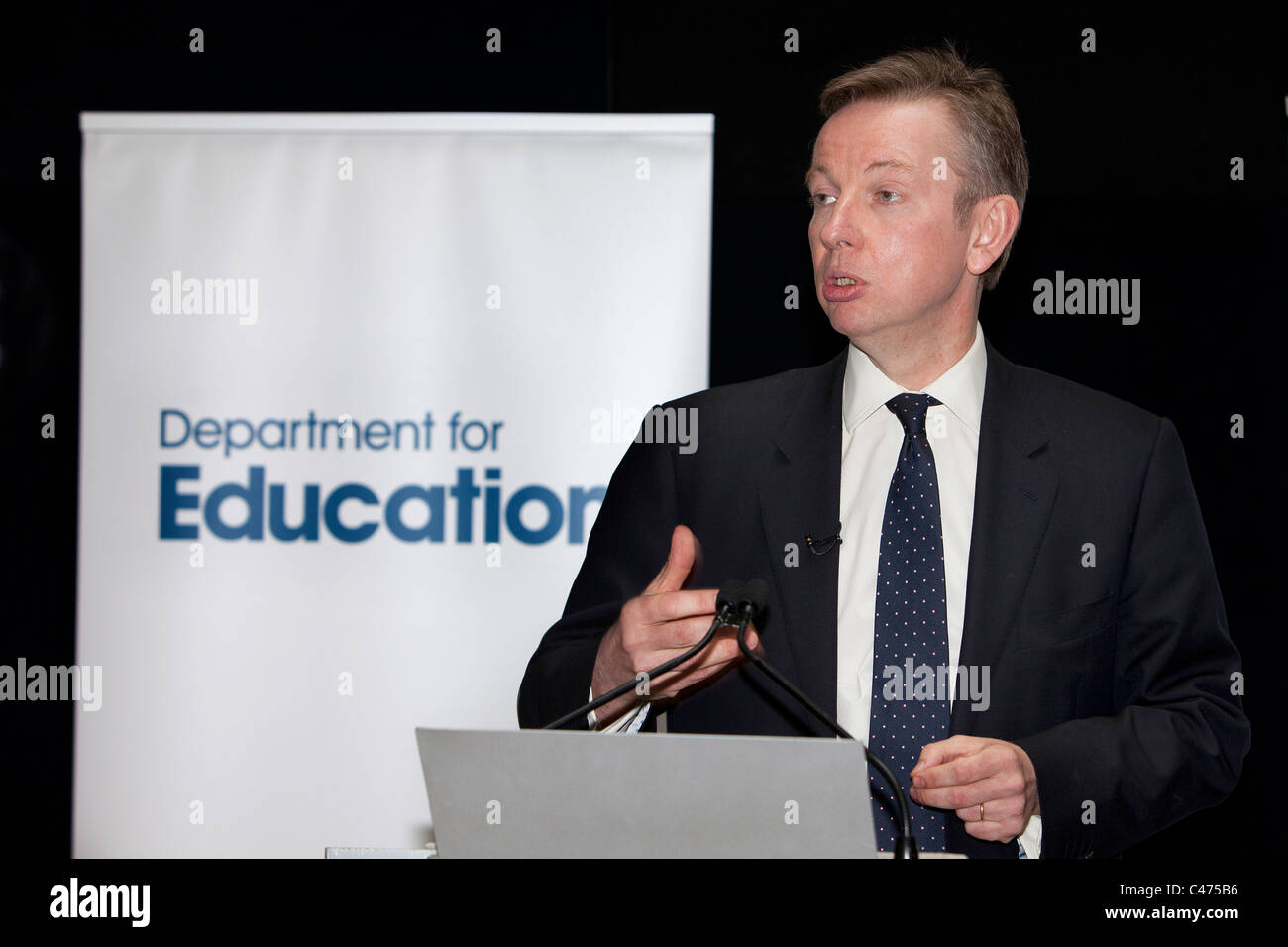 Conservative MP Michael Gove Member of Parliament for Surrey Heath and Secretary of State for Education - Stock Image