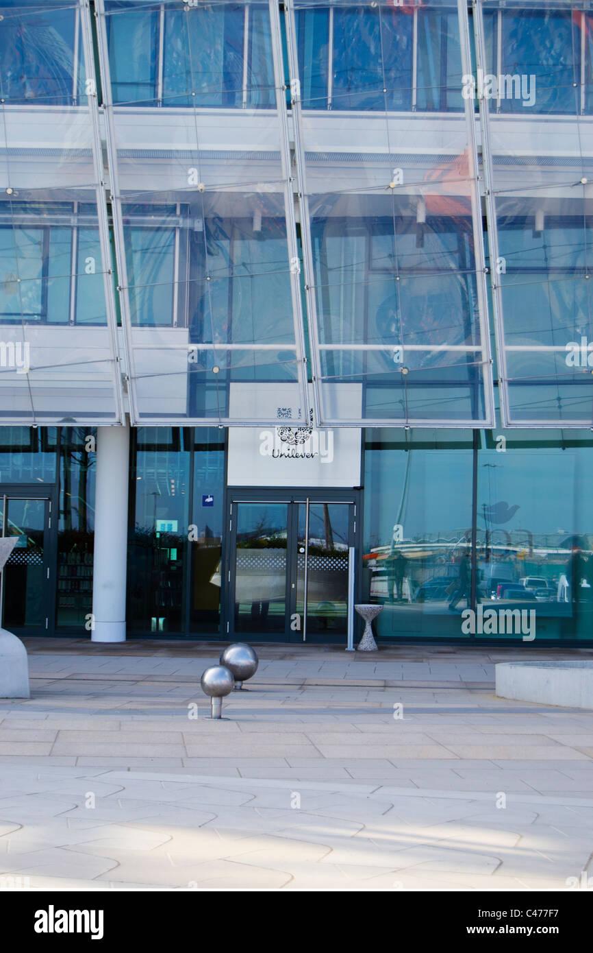 Unilever office building in Hamburg Hafencity - Stock Image