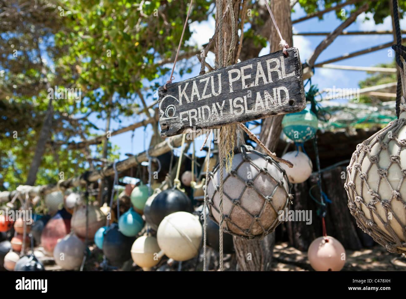 Kazu Pearls at Friday Island, Torres Strait Islands, Queensland, Australia - Stock Image