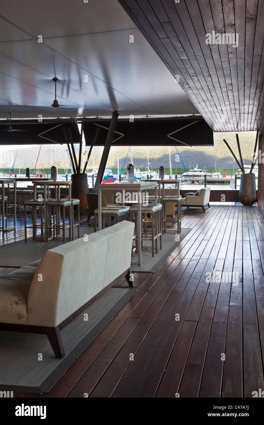 Ba8 Lounge Bar at Shangri-La Hotel. The Pier, Cairns, Queensland, Australia - Stock Image
