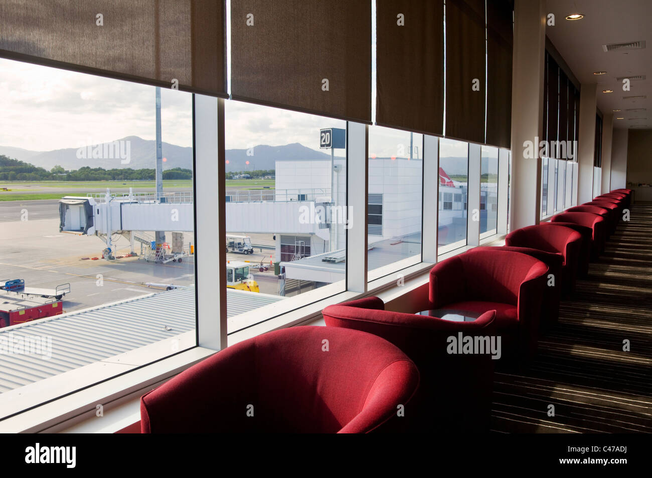 Qantas Club Lounge at Cairns Domestic Airport. Cairns, Queensland, Australia - Stock Image