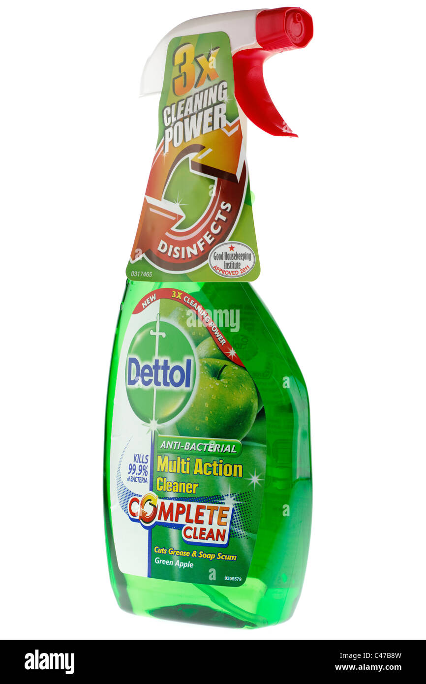 Anti Bacterial Cleaner Stock Photos Cussons Baby Liquid Detergent 750ml Plastic Spray Bottle Of New 3 Times Cleaning Power Dettol Green Apple Multi Action