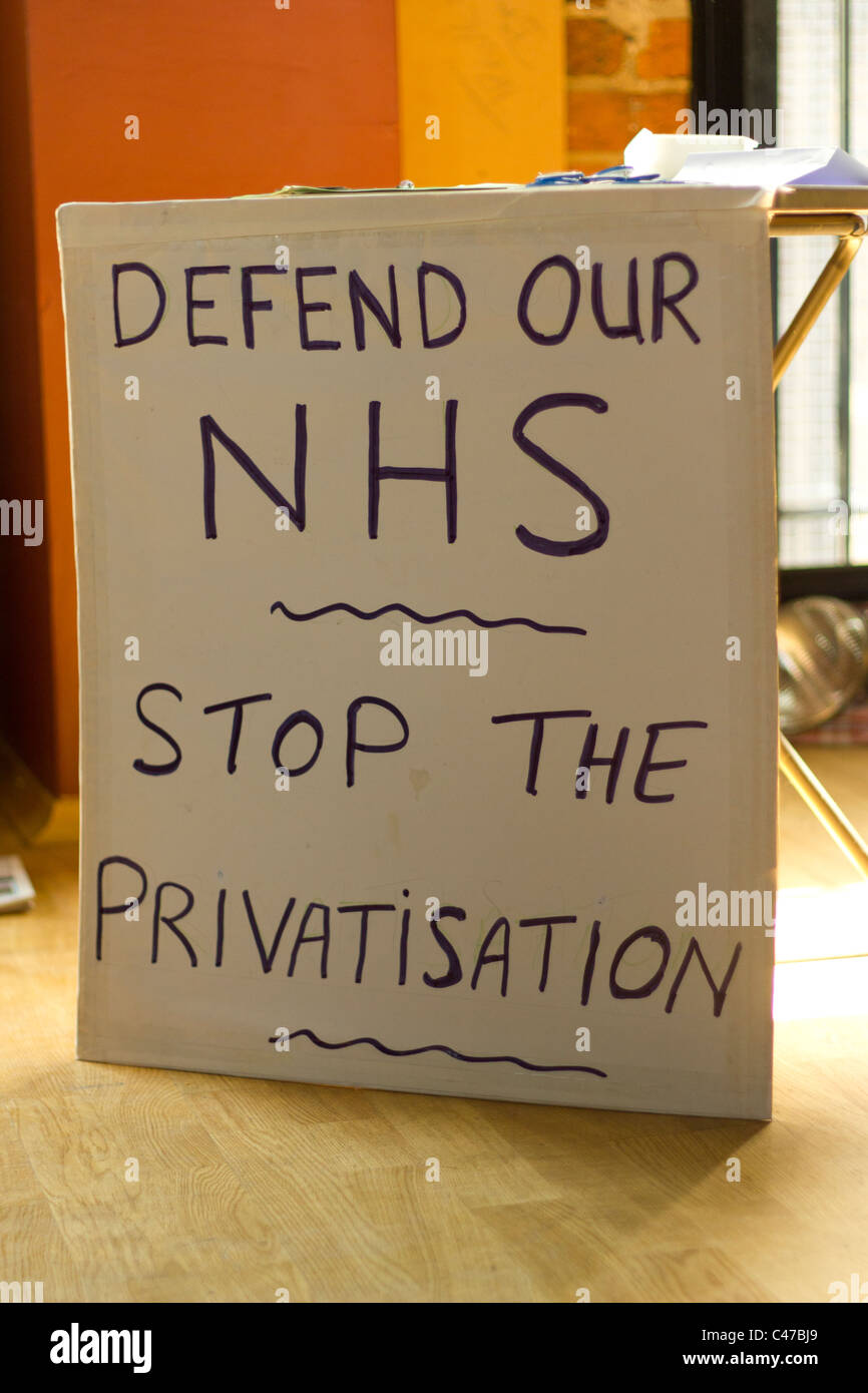 Defend NHS at People's Assembly Against The Cuts - Liverpool, England - Stock Image