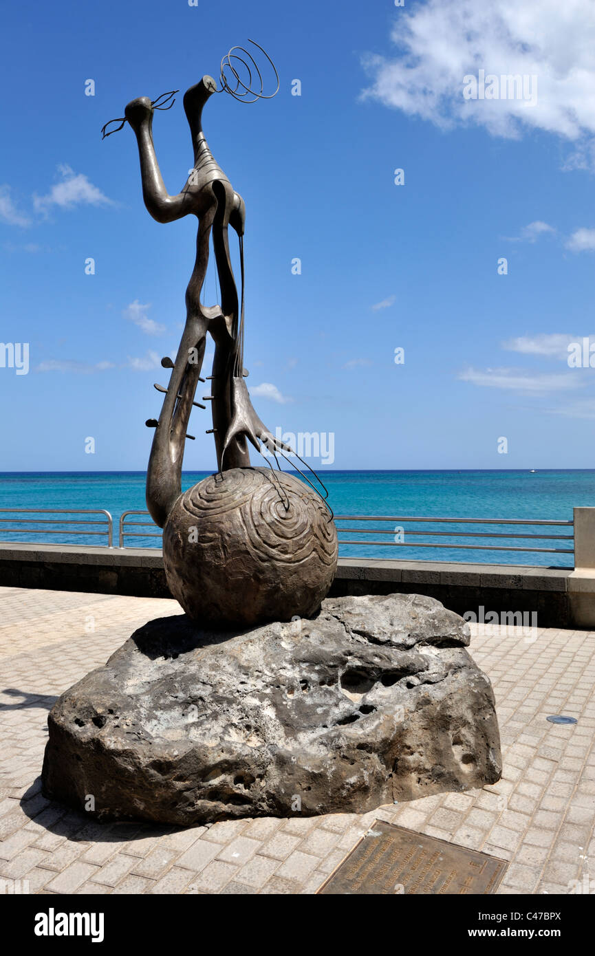 Monument in honour of artist sculptor 'Pancho Lasso' - Stock Image
