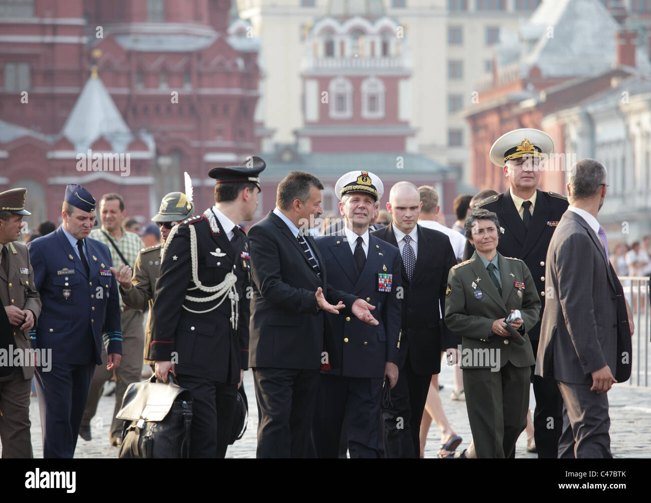 NATO delegation in Moscow, Russia - Stock Image